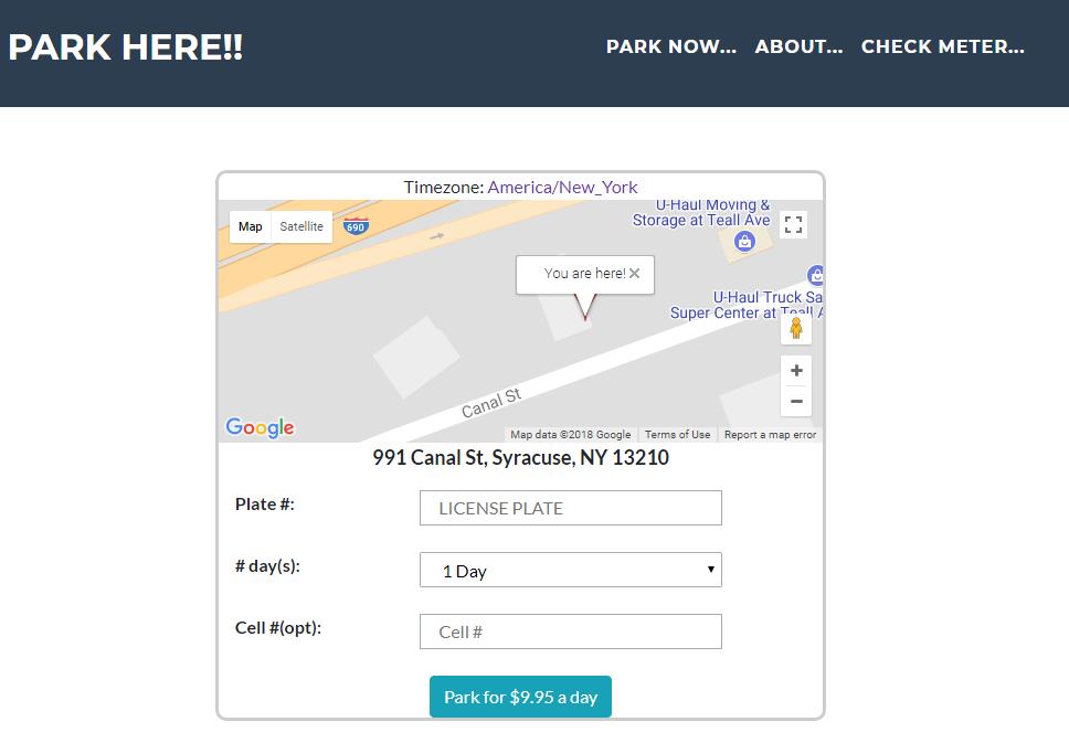 Park Here (parkhere.biz) Python Website